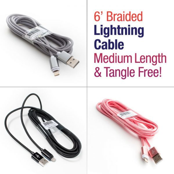 6' Braided Lighting Cable