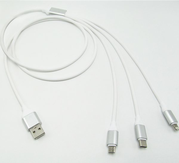 3 in 1 Universal Charging Cable Lightning, USB C, Micro USB
