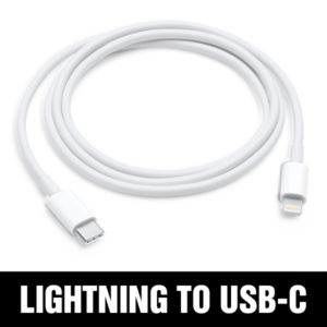 3' Lighting to USB C Cable